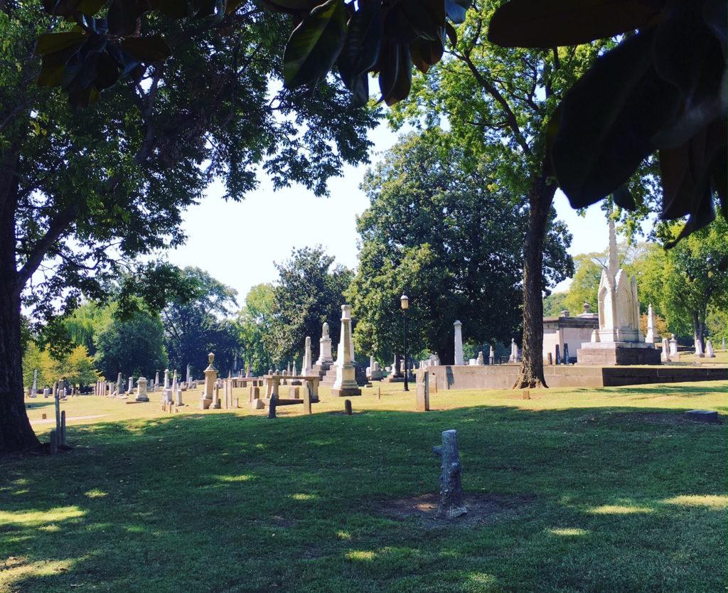 The Nashville City Cemetery.