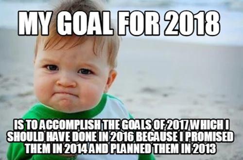 new year meme goals for 2018 andrea blythe