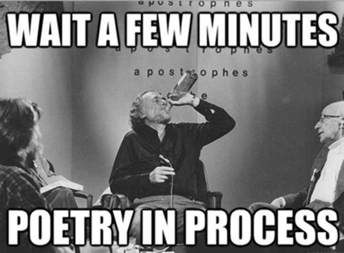 Poetry in process meme