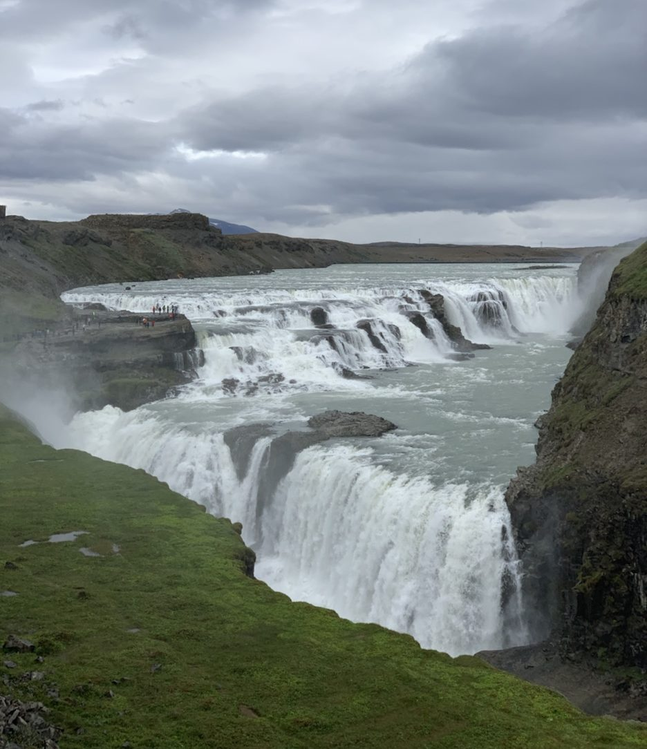 Gulfoss Falls, part of the Golden Circle in Iceland.