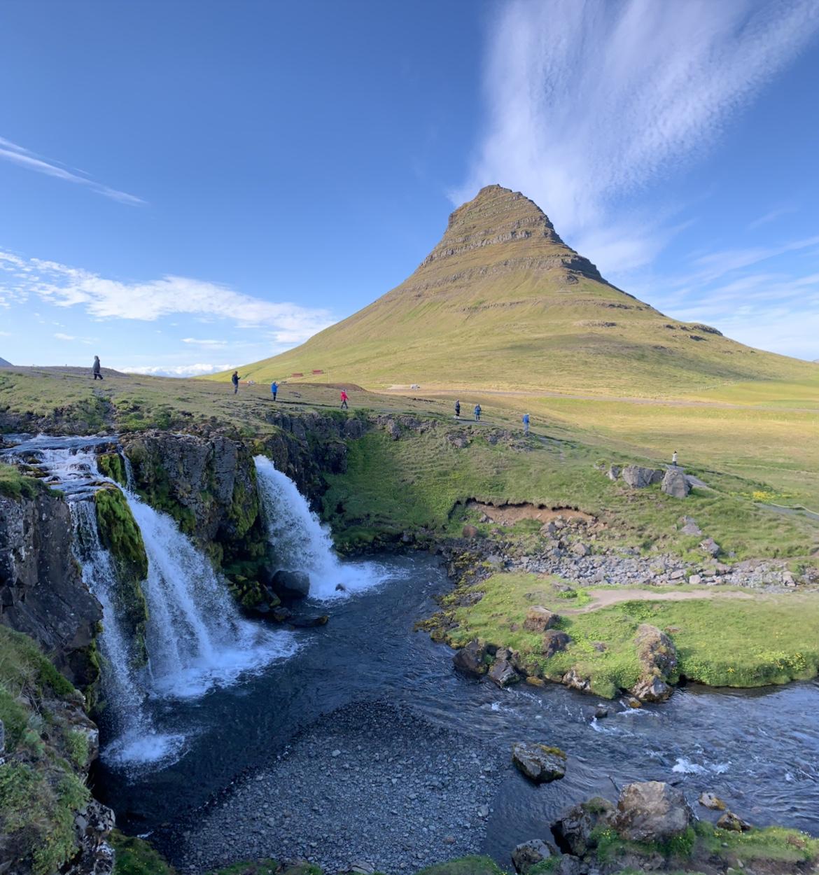 Kirkjufellsfoss at the Snaefellsnes National Park, Iceland.
