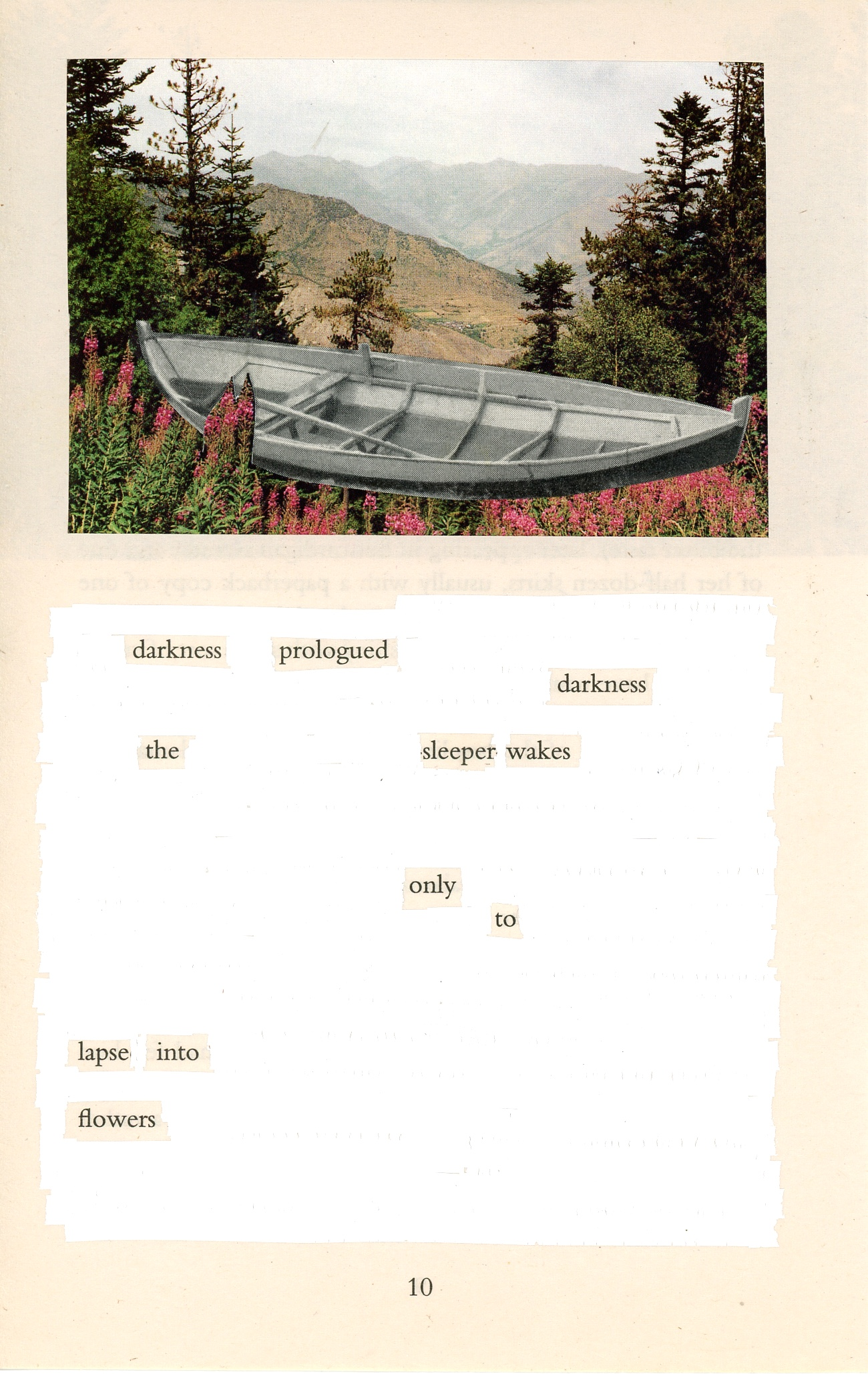 [Darkness prologued darkness...] by Sarah J. Sloat